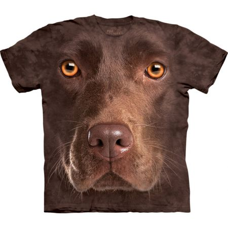 "The Mountain T-Shirt ""Chocolate Lab face"""