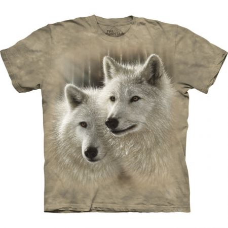 "The Mountain T-Shirt  ""Sunlit Soulmates Wolves"""