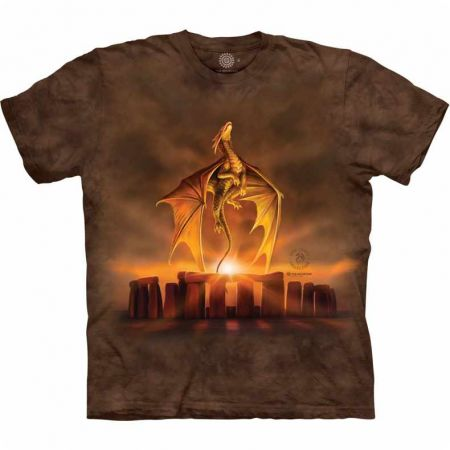 The Mountain T-Shirt Dragon Fantasy Solstice - Anne Stokes
