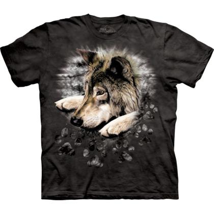 "The Mountain T-Shirt ""Wolf in dye paw"""