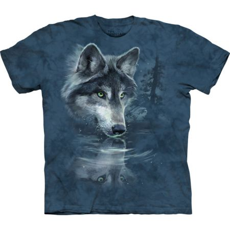 "The Mountain T-Shirt ""Wolf reflection""- Wolfmotiv"