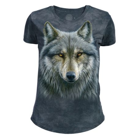 The Mountain T-Shirt für Damen mit Tiermotiv Wolf Warrior