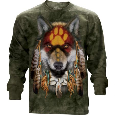 """Native Wolf Spirit"" Langarm T-Shirt von The Mountain"