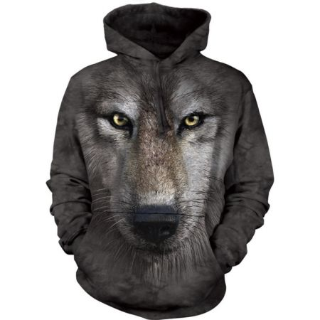 "The Mountain Hoodie ""Wolf face"""