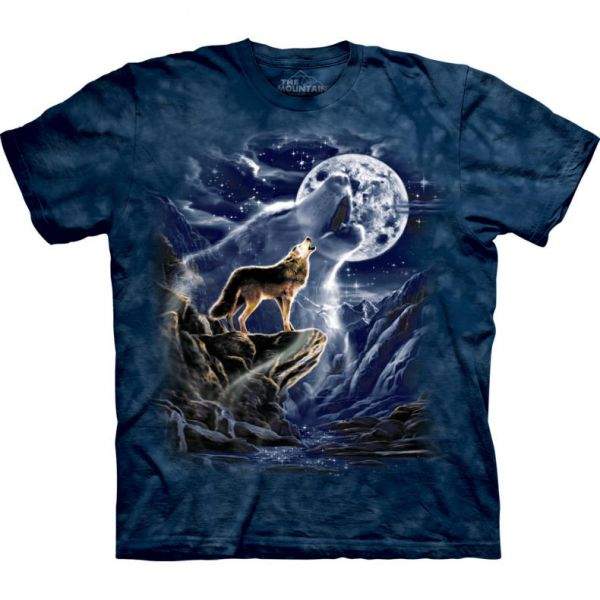 "The Mountain T-Shirt Wolfmotiv ""Wolf Spirit Moon"""