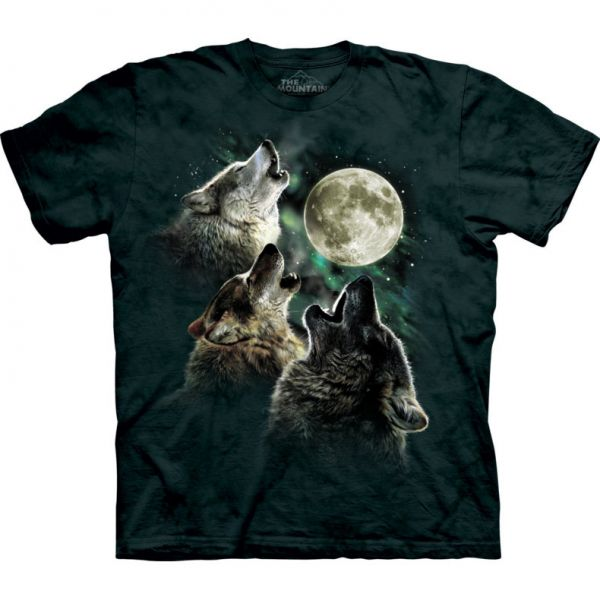"The Mountain T-Shirt """"Three Wolf Moon"""