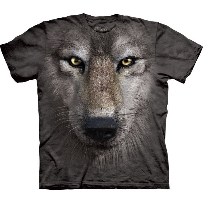 "The Mountain T-Shirt ""Wolf face"""