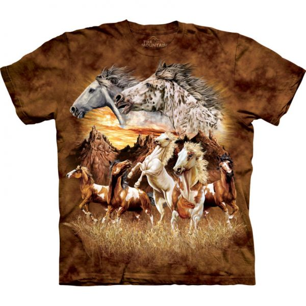 "The Mountain T-Shirt The Mountain T-Shirt ""Find 15 Horses"""