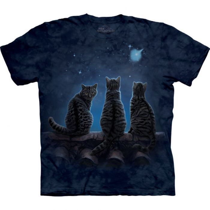 "The Mountain T-Shirt Tiermotiv ""Wish upon a star cat"""