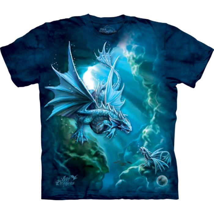 The Mountain Kinder T-Shirt Sea Dragon Fantasy - Anne Stokes