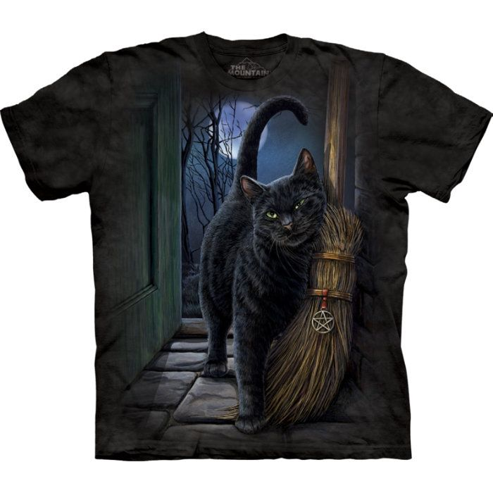 The Mountain T-Shirt Katze Gothic T-Shirt designed by Lisa Parker