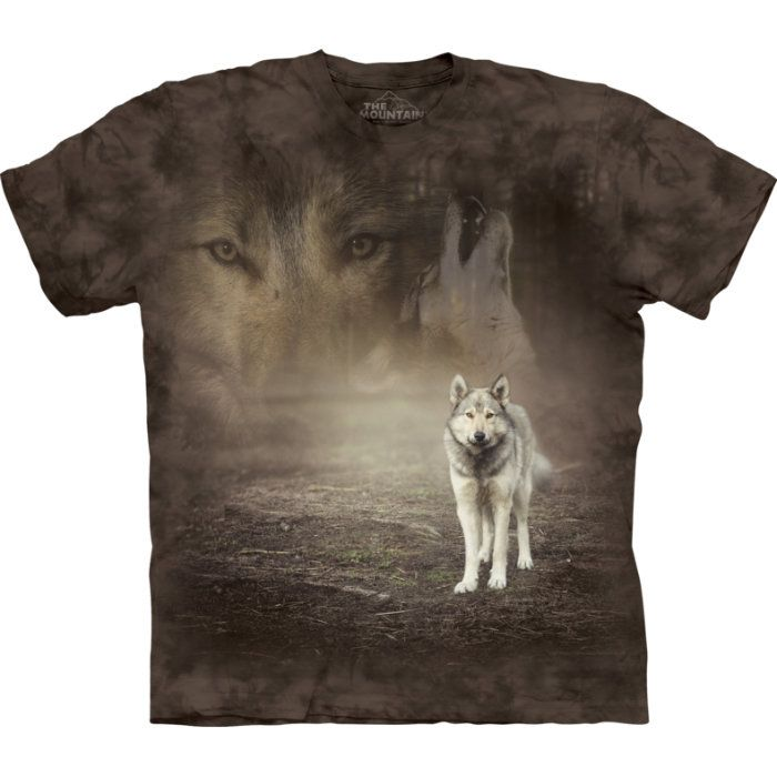 "The Mountain T-Shirt ""grey Wolf"""