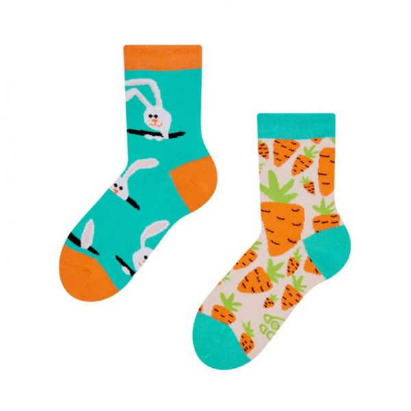 Socken für Kinder - Motiv Carrot Rabbit