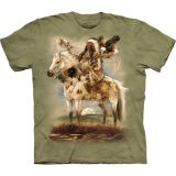 """Spirit Native Americans"" The Mountain T-Shirt für Erwachsene (Aberkauf Gr. Large)"