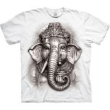 "The Mountain weißes T-Shirt ""Ganesh Cultural"" - Erwachsenen T-Shirt"