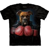 "The Mountain T-Shirt ""Boxer Rocky"" - Erwachsenen T-Shirt mit Hundemotiv"