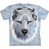 The Mountain T-Shirt Wolfmotiv White Wolf DJ