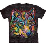 "ABVERKAUF - The Mountain T-Shirt KINDER  Gr. S  ""Happy Wolf"""