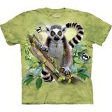 The Mountain T-Shirt Lemur & Butterflies