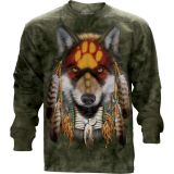 "Langarm T-Shirt The Mountain ""Native Wolf Spirit""  (S - 3XL) - Wolfmotiv"