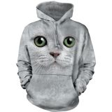 The Mountain HoodieGreen Eyes Face Cat