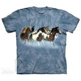 "The Mountain T-Shirt KINDER  Gr. M ""Wilde Pferdeherde"" - Abverkauf"
